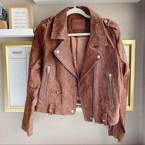 Blank NYC brown sued moto jacket L